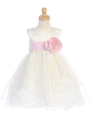 BL243 Satin with crystal organza