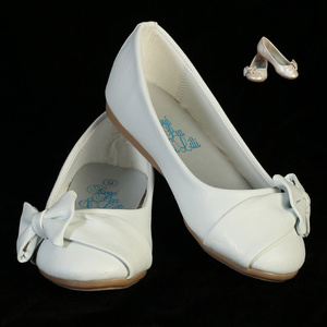 Girl's flat shoes with side bow
