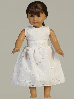SP114 Doll dress - Cotton eyelet