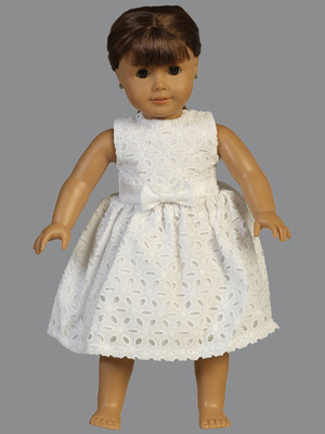 SP120 Doll dress - Cotton eyelet