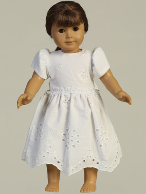 SP179 Doll dress - Cotton eyelet