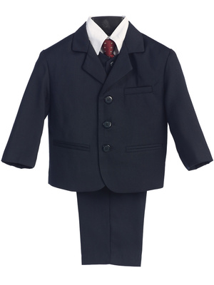 3720 Boy's 5pc pins-striped suit