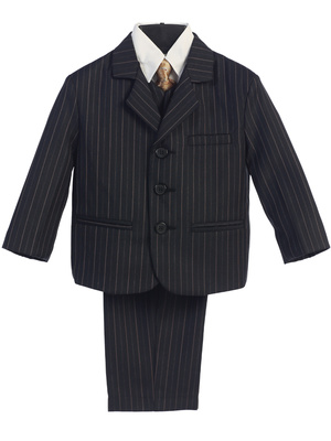 3740 Boy's 5pc pins-striped suit