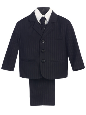 3750 Boy's 5pc pins-striped suit