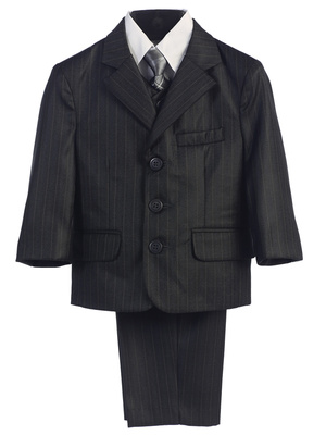 3760 Boy's 5pc pin-striped suit