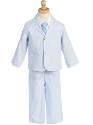 3775 Boys' cotton seersucker suit