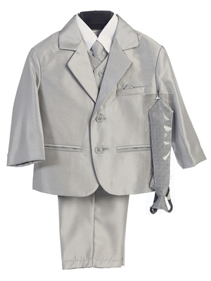 3800 Boys' 6 piece shiny suit