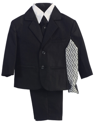 3805 Boys' 6 piece suit (Herringbone)