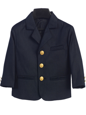 601 Boy's navy blazer with brass buttons