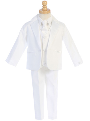 7510 One-button Dinner Jacket Tuxedo with vest & necktie