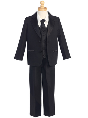 7515 Two-button Dinner Jacket Tuxedo with Vest & Necktie