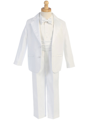7535 Two-button Dinner Jacket tuxedo with cummberbund & bowtie