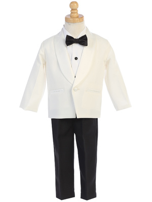 7580 One button Dinner Jacket tuxedo with bowtie