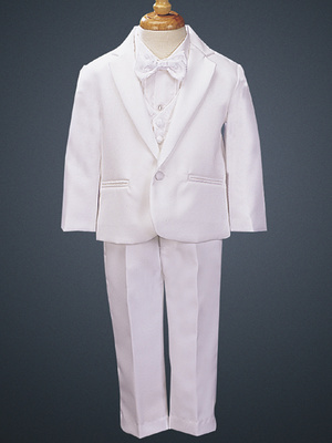 7590 One-button Dinner Jacket tuxedo with vest & bowtie