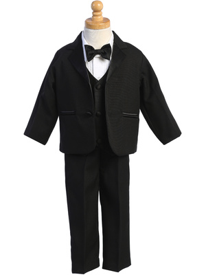 7595 Two-button Dinner Jacket tuxedo with vest & bowtie