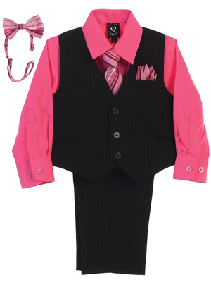 8571 Pin-striped Vest & Pant set