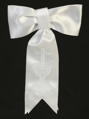 Satin arm band with embroidered cross & chalice