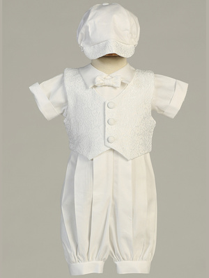 Poly cotton romper set with vest