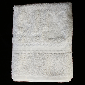 B-102 Christening towel with embroidered angel