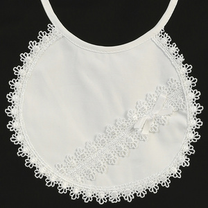 BB-3 Cotton bib with lace trims