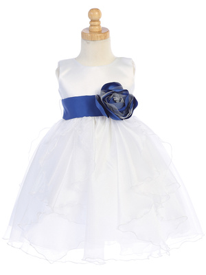 Satin and Crystal Organza (dress only)