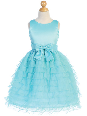 Satin & Ruffled tulle