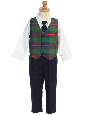 C569 Plaid vest & pant set