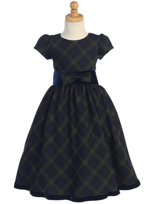 C813 Plaid dress