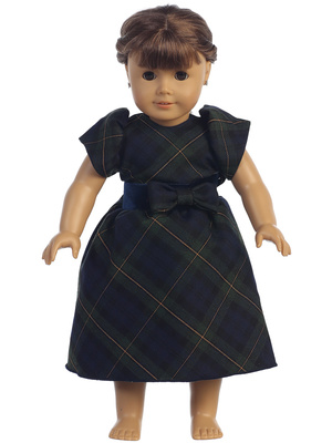 C814 Doll dress - Plaid