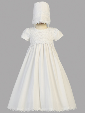 Cotton smocked gown