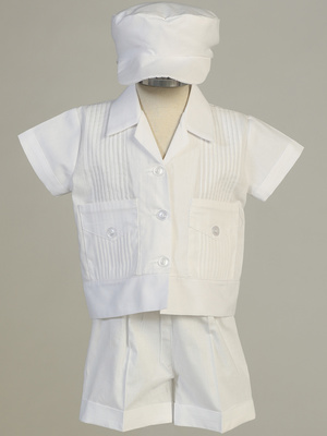 DANIEL - Poly cotton Pintuck shirt & Short set