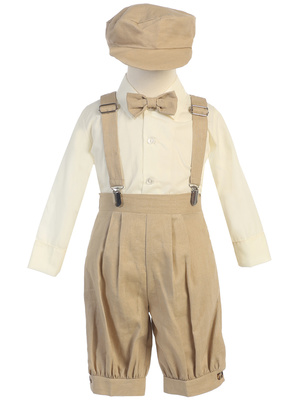 Suspender knicker set with hat (Rayon linen)