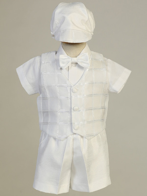 JOSEPH - Organza Plaid vest & Shantung short set