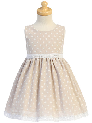 Cotton chambray polka-dot