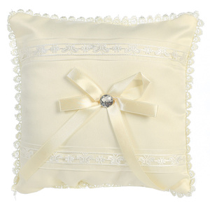 Ring Bearer pillow - satin with lace trim