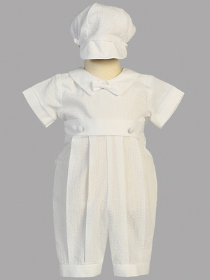 Cotton seersucker romper set