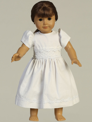 SP108 Doll dress - Smocked cotton
