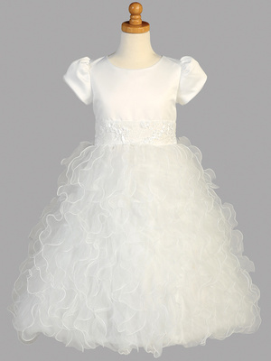 SP128 Satin & Ruffled organza