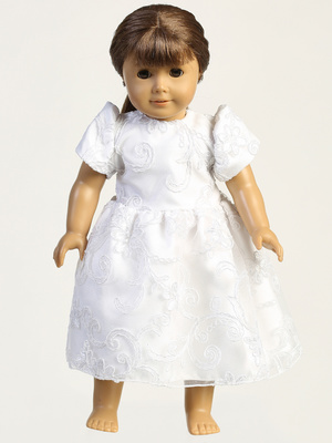 SP183Z Doll dress - Corded tulle with sequins