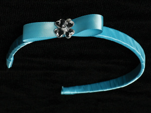 T-35 - Satin Ribbon on Headband with Bow